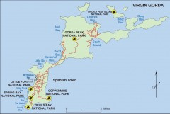Map of Virgin Gorda