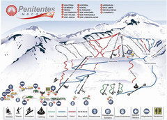 Mapa de Los Penitentes Map