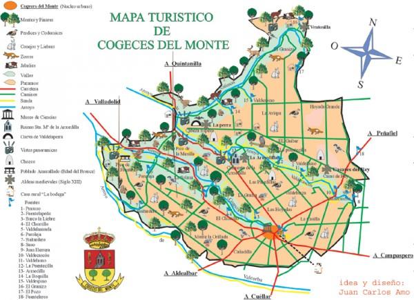 Map Of Spain Valladolid.Mapa Turistico De Cogeces Del Monte Map Cogeces Del Monte