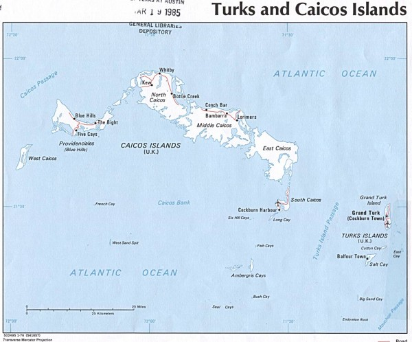 Maps of Turks and Caicos Islands Map