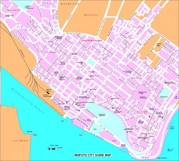 Maputo City Map - Maputo Mozambique • mappery