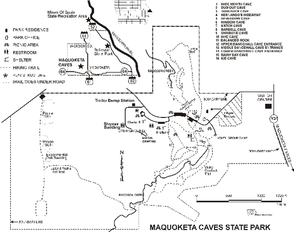 Jackson County Iowa Map.Maquoketa Caves State Park Map Maquoketa Ia Mappery