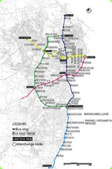 Maracaibo Bus Map