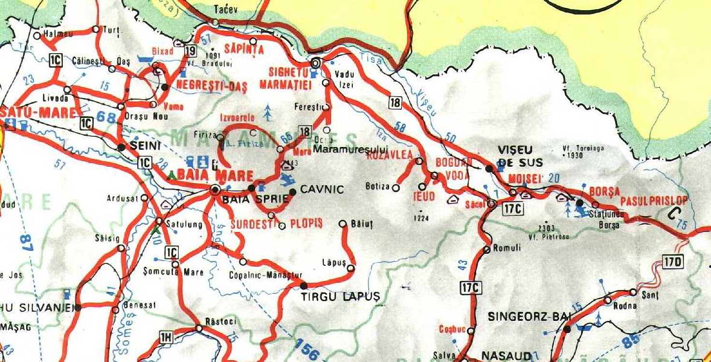 Maramures Map Maramures Romania Mappery