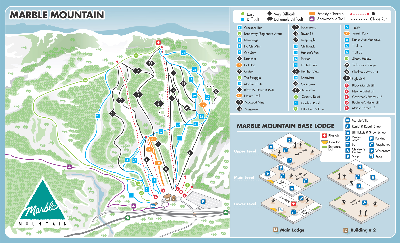 Marble Mountain Ski Trail Map