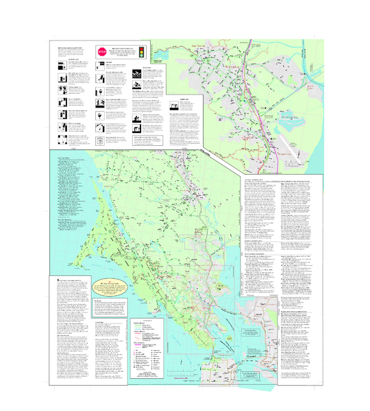 Marin Bicycle Map - Side B