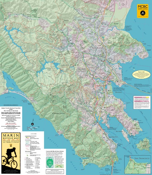 Marin, California Bike Map