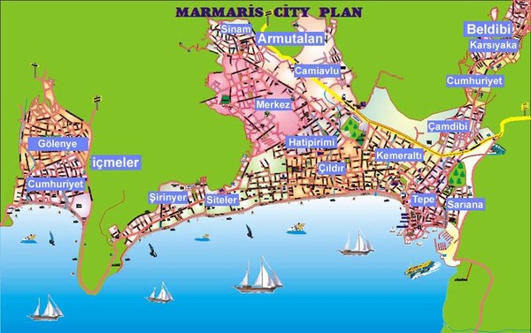 Marmaris City Map marmaris mappery