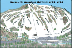 Marquette Mountain Ski Trail Map