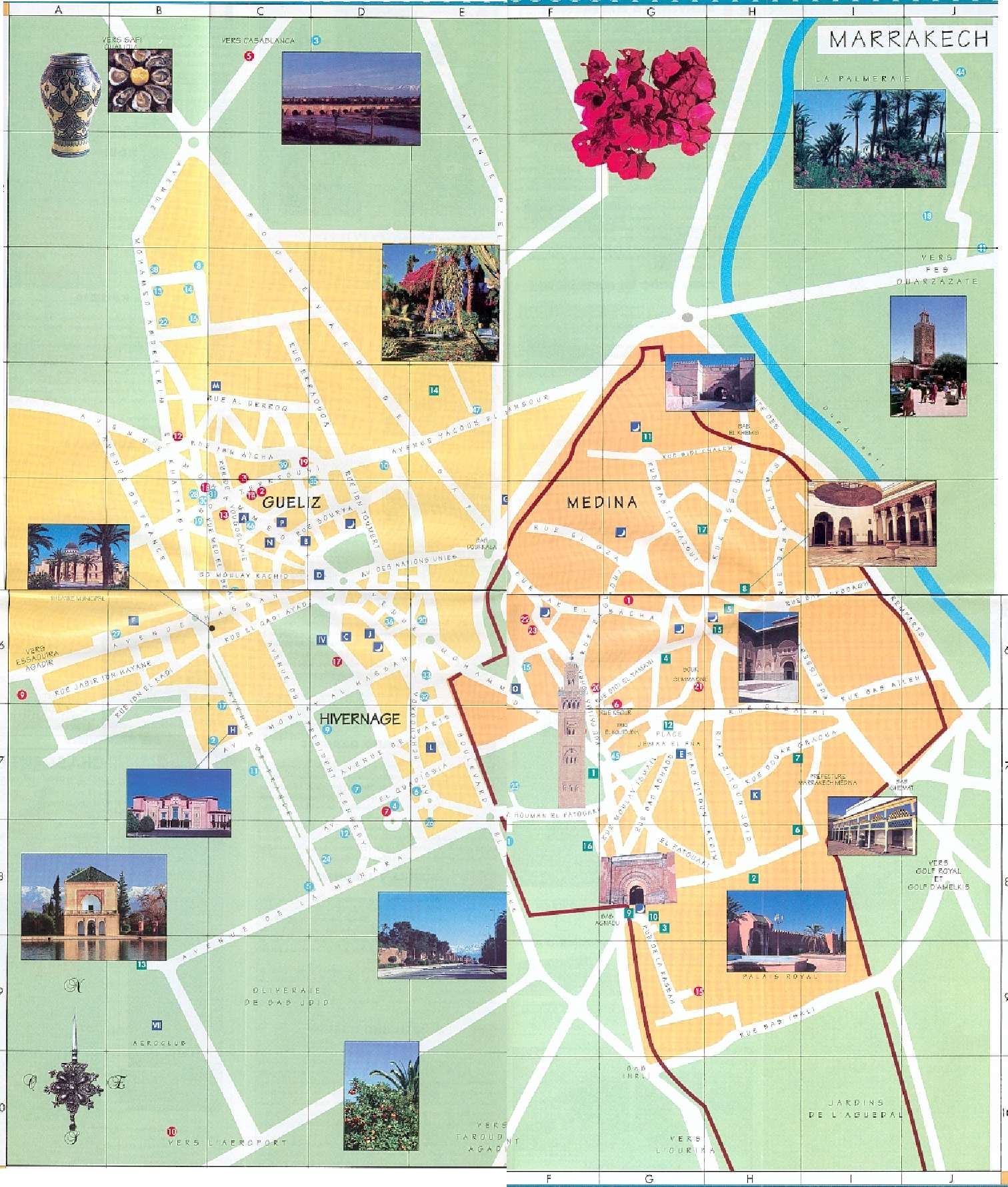 Marrakesh Tourist Map Marrakesh Morocco mappery