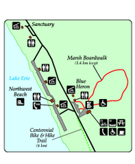 Marsh Boardwalk Map
