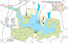 Marsh Creek State Park map
