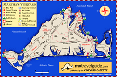 Martha's Vineyard Island Map