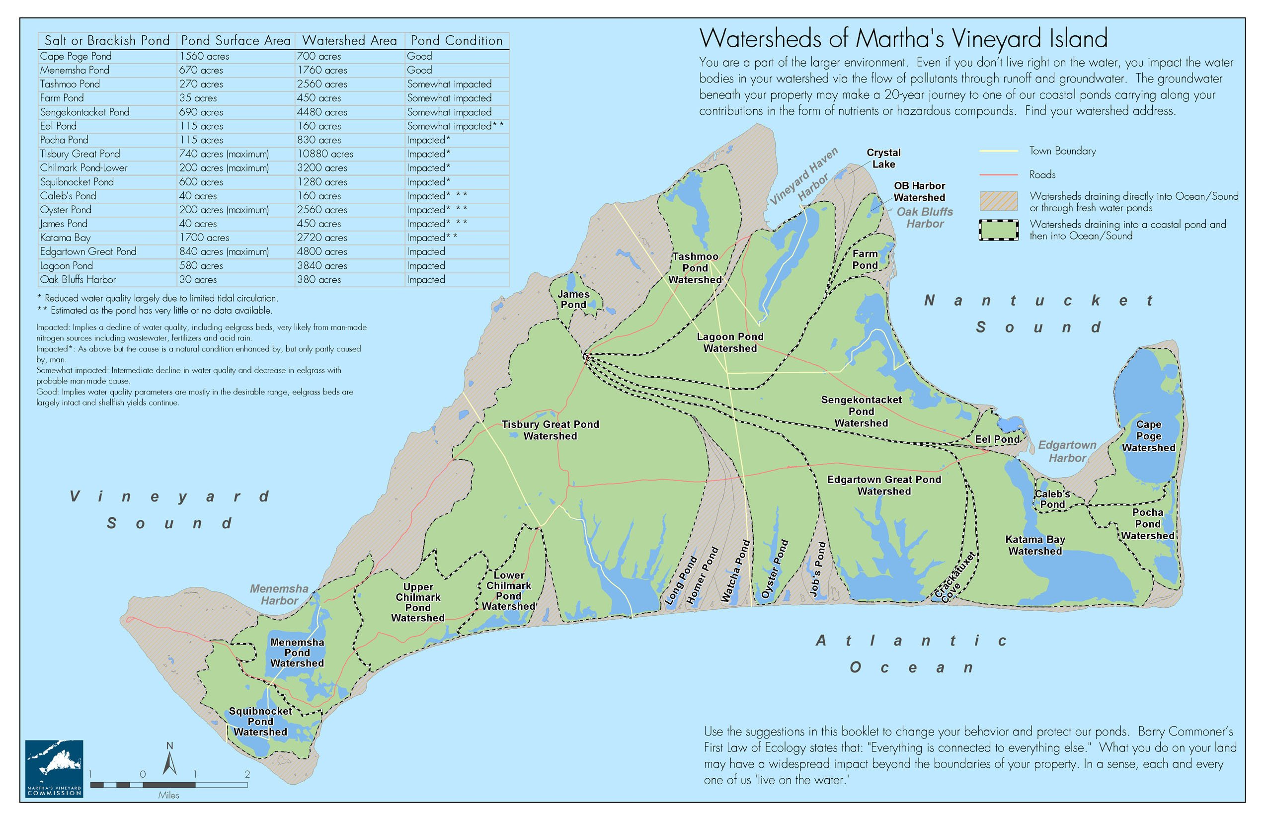 Marthas Vineyard Watershed Map Martha039s Vineyard MA • mappery