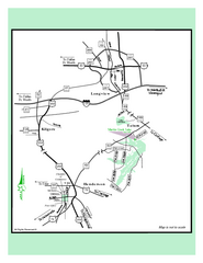 Martin Creek Lake, Texas State Park Map