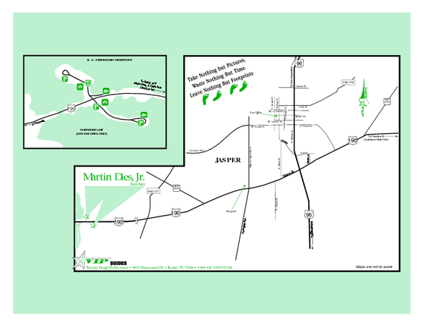 Martin Dies Jr., Texas State Park Map