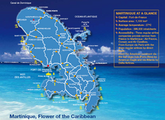 Martinique Tourist Map