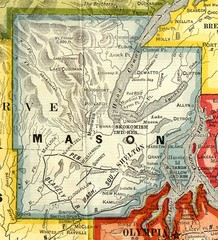 Mason County Washington, 1909 Map