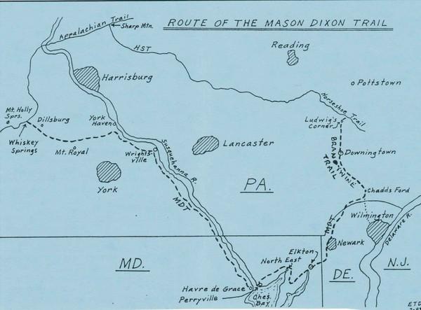 Mason Dixon Trail Map - Lancaster PA • mappery