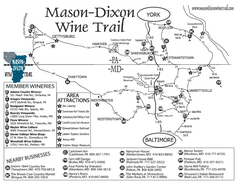 Mason-Dixon Wine Trail Map
