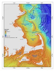 Massachusetts Bay sea floor Map