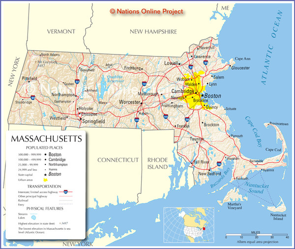 Massachusetts Road Map Massachusetts mappery