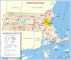 Massachusetts Road Map