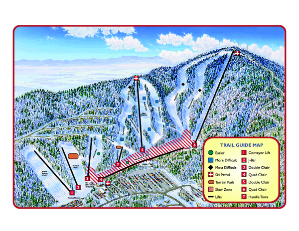 Manutten Resort Ski Trail Map - Manutten Virginia United ... on