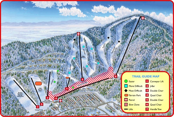 Massanutten Ski Trail Map