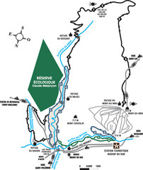 Massif du Sud Nordic Ski Trail Map