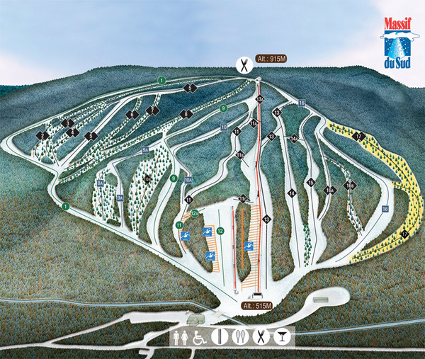 Massif du Sud Ski Trail Map