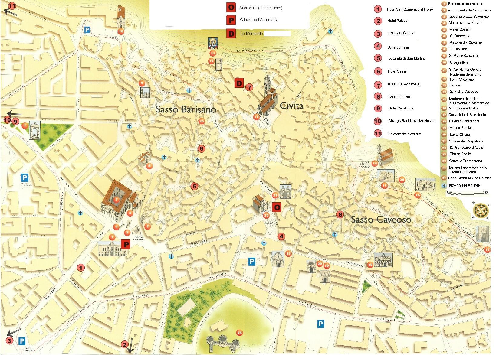 Matera Tourist Map Matera Italy Mappery - Bari map