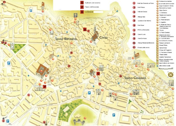 Matera Tourist Map Matera Italy mappery – Tourist Map Of Italy
