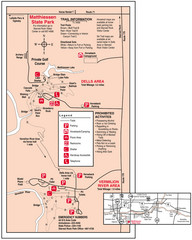 Matthiessen State Park, Illinois Site Map