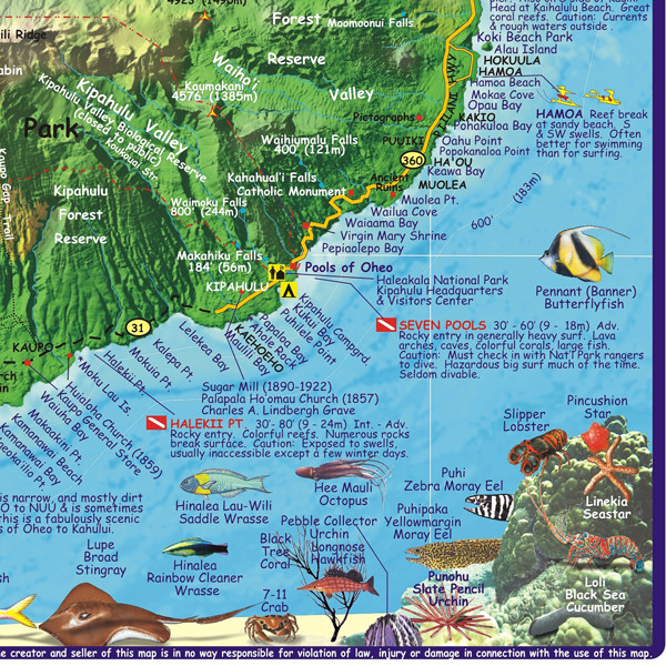 Maui Hawaii Diving Map Maui Hawaii mappery – Tourist Map Of Maui