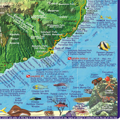 Maui, Hawaii Diving Map