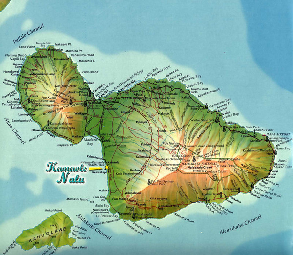 Hawaii Map Maui.Maui Island Map Maui Hawaii Mappery