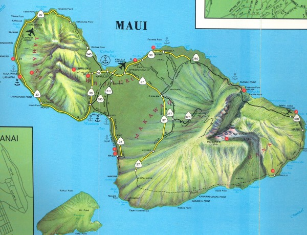 Hawaii Map Maui.Maui Physical Map Maui Hi Mappery