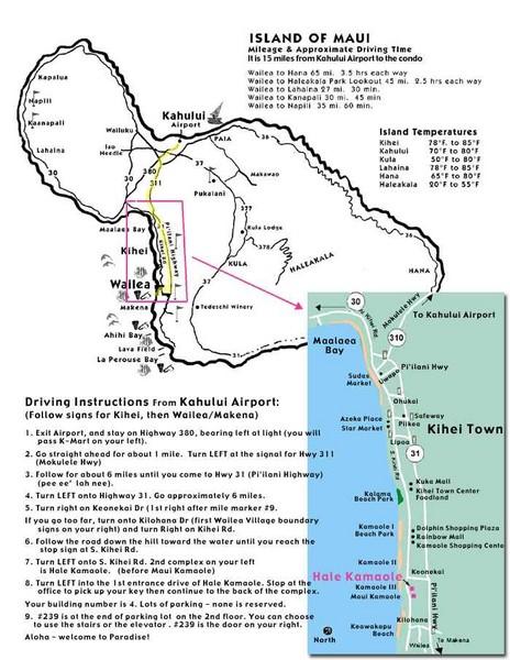 Maui Tourist Map Maui mappery