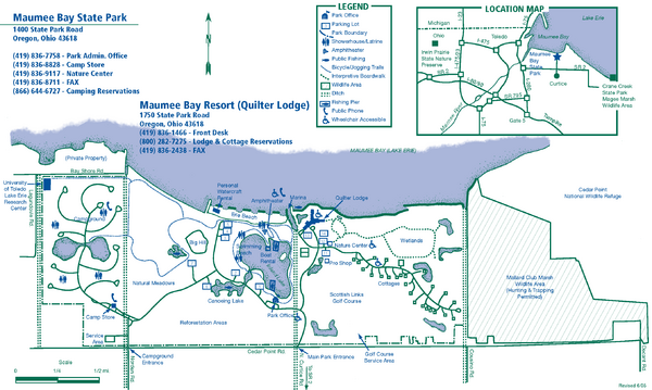 Maumee Bay State Park Map