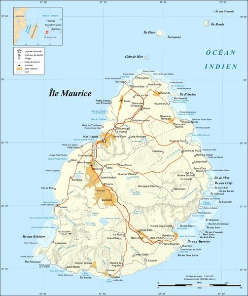 Mauritius Island Map Mauritius Mappery - Mauritius maps