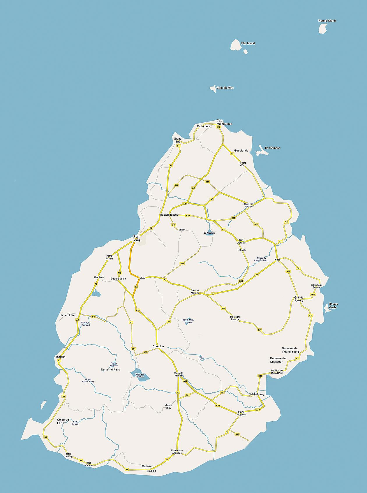 Mauritius Island Map Mauritius mappery