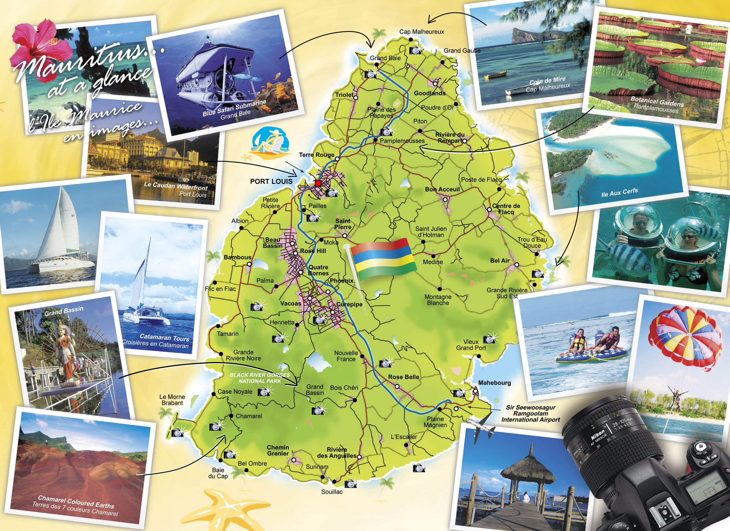Mauritius Tourist Map Mauritius Mappery - Detailed map of mauritius