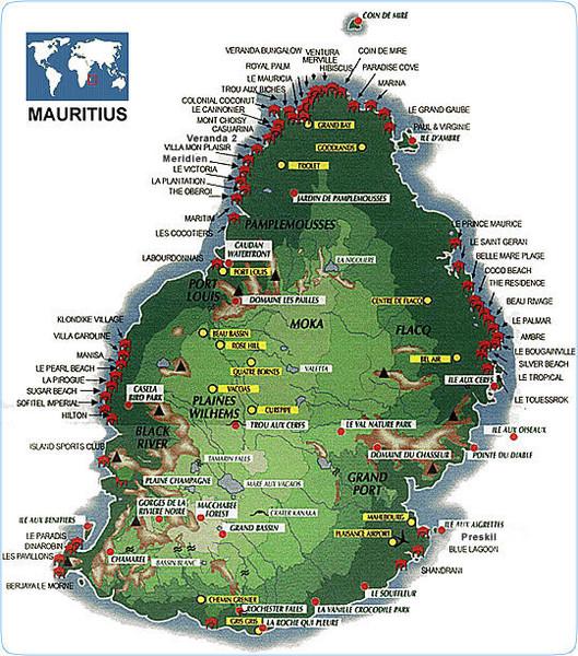 Mauritius Maps Mappery - Mauritius maps