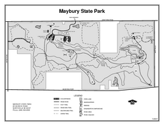 Maybury State Park, Michigan Site Map