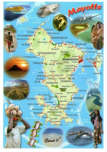 Mayotte tourism Map