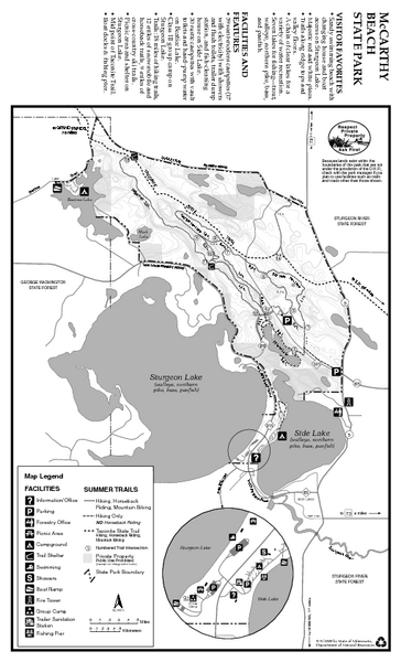 McCarthy Beach State Park Summer Map