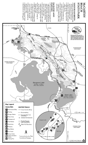 McCarthy Beach State Park Winter Map