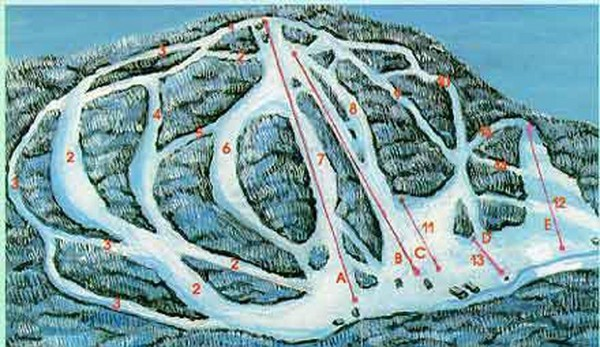 McCauley Mountain Ski Trail Map