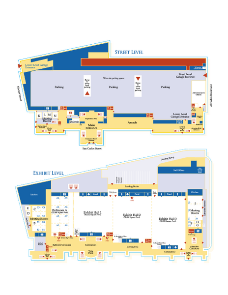 McEnery Convention Center San Jose California Map 150 W San Carlos